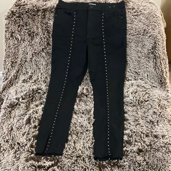 Express Ankle Legging High Rise beaded front Sz12